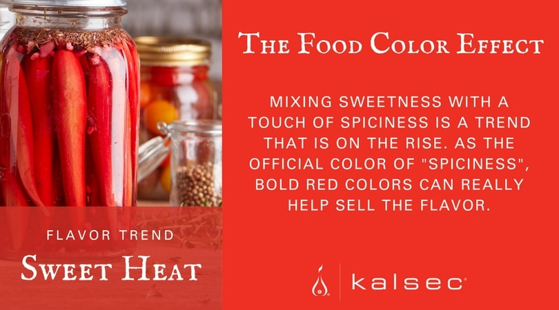 sweet heat flavor trend bold red colors